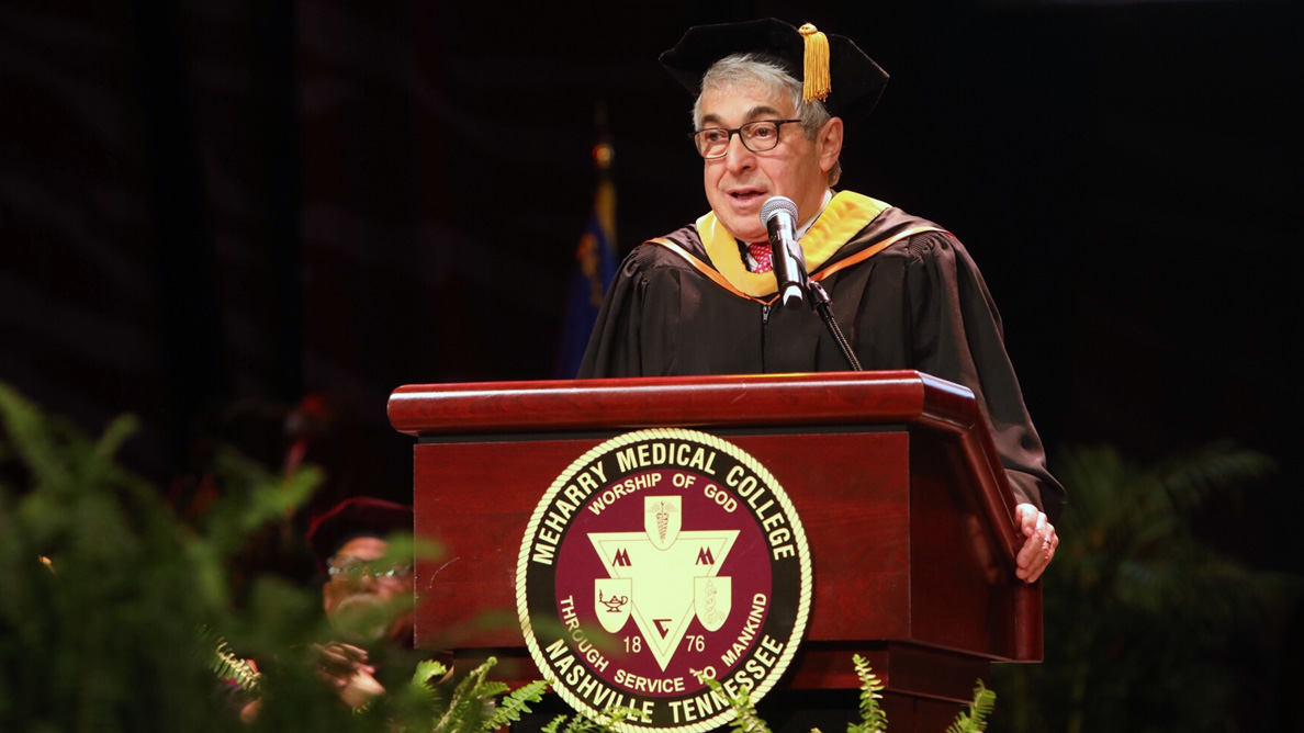 Bergman shares life lessons with Meharry graduating class