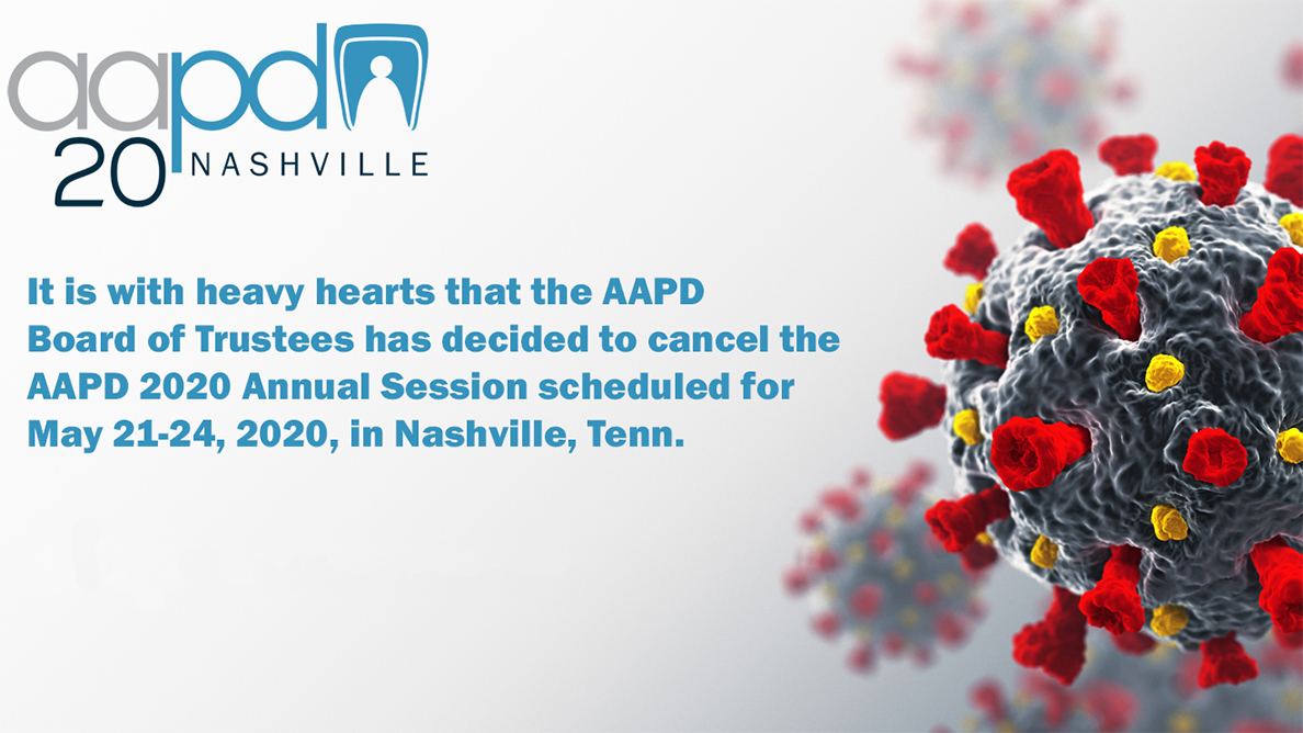 AAPD 2020 Annual Session canceled
