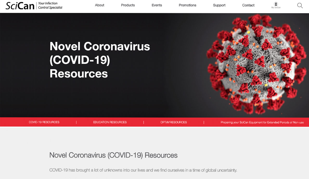 Coltene SciCan launches COVID-19 information resource webpage